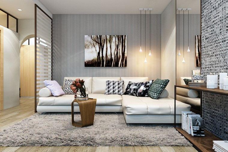 descoracion interiores minimalistas mesita preciosa ideas