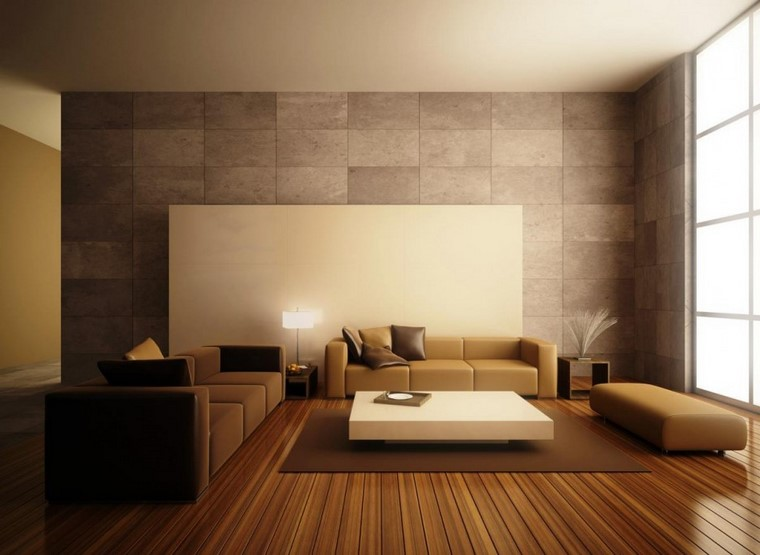descoracion interiores pared piedra panel ideas