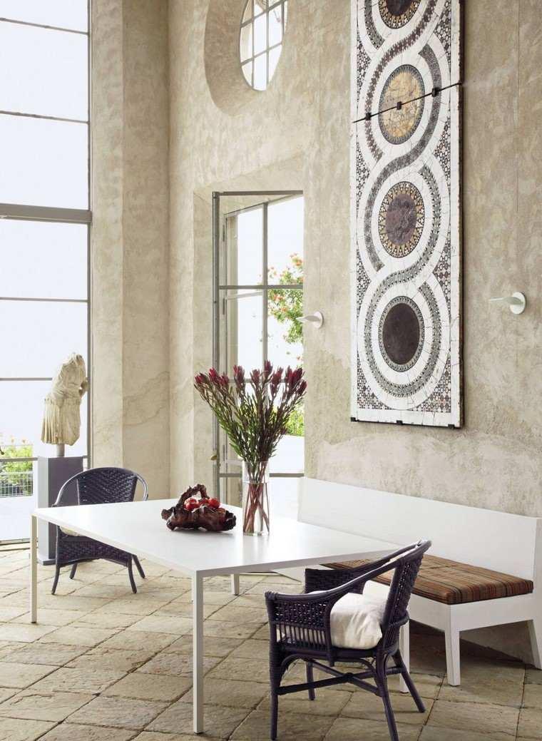descoracion interiores minimalistas rustico comedor ideas