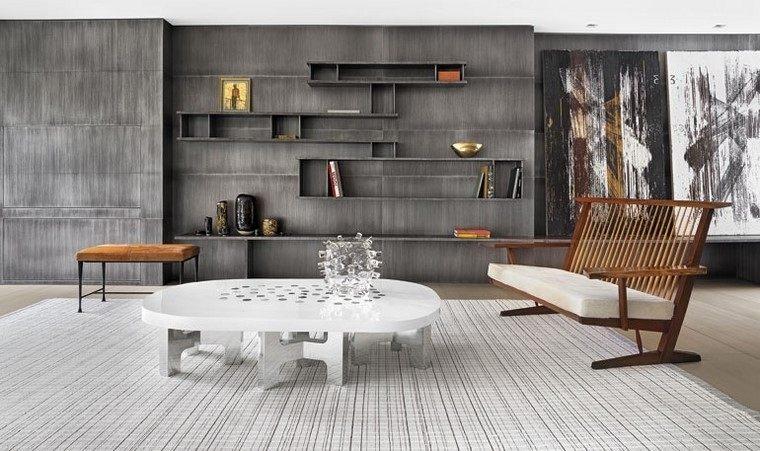 descoracion interiores minimalistas salon hormigon ideas