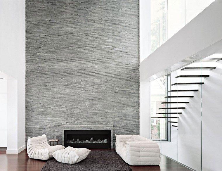 Decoraci n interiores minimalistas con paredes de piedra - Decoracion de paredes interiores ...
