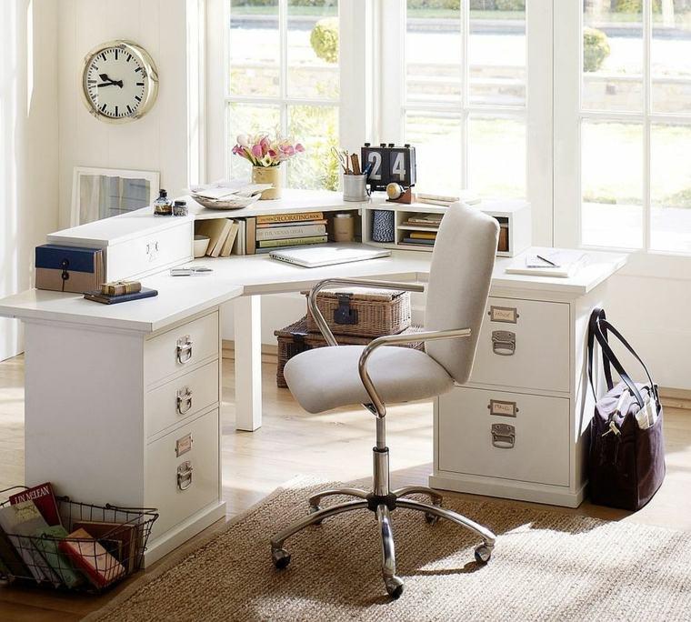 despacho conjunto muebles blancos