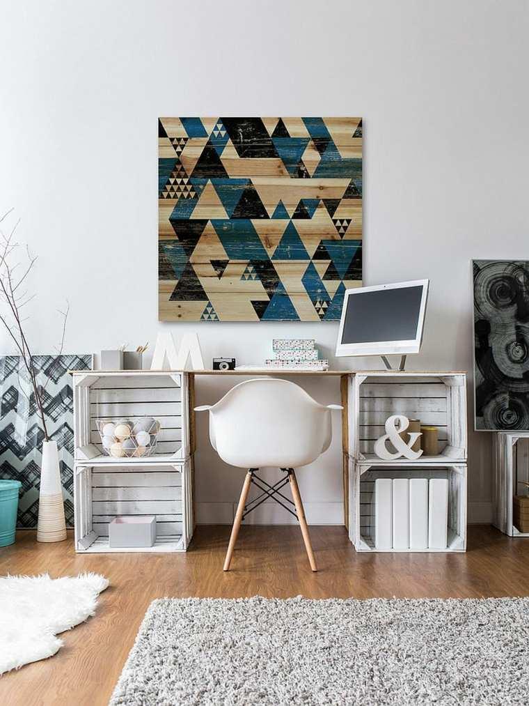 despacho moderno muebles reciclados nordico