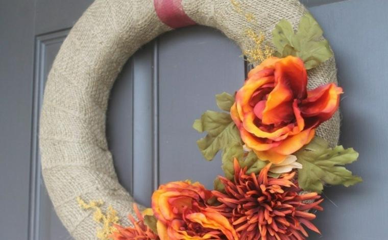 detalles flores secas hojas gris