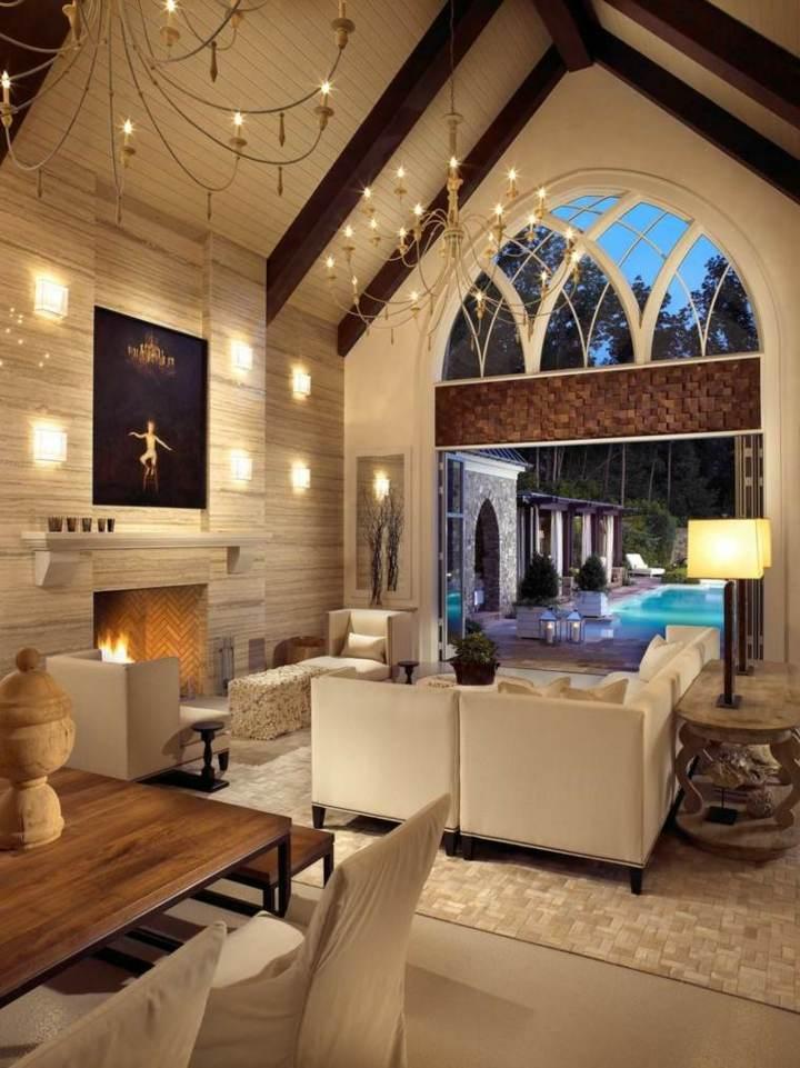 detalles modernos interiores muestras luminarias