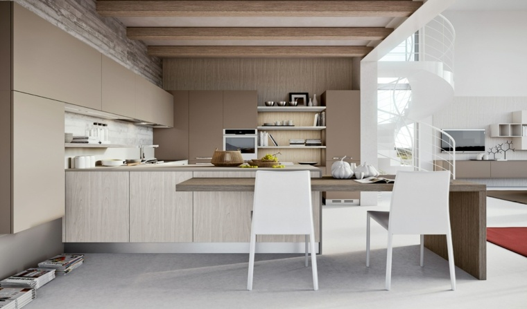 detalles rusticos modernas cocinas sillas