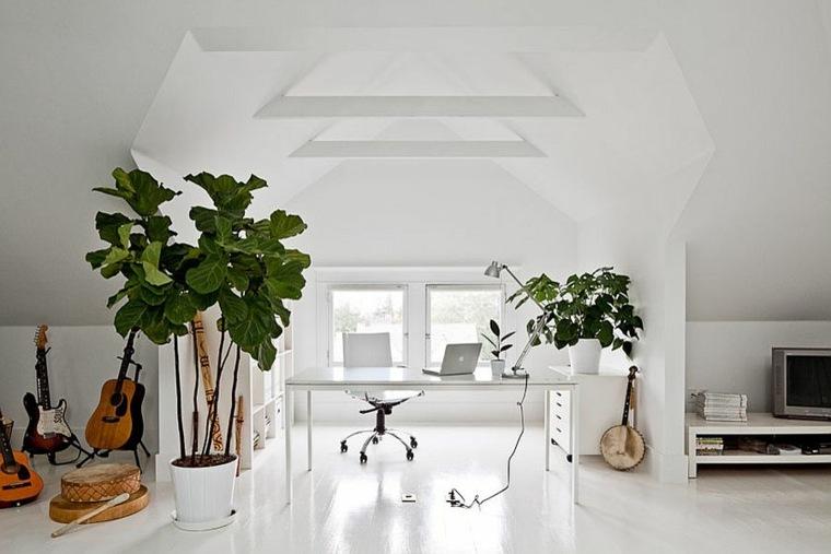 diseño moderno oficina blanca