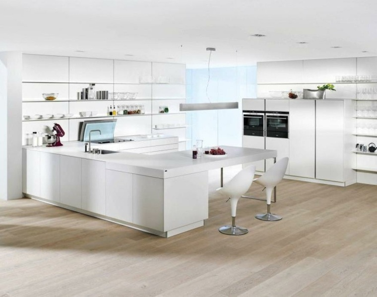 diseno cocina lujosa minimalista blanca
