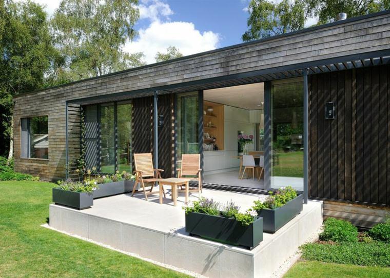 diseno jardin oritinal casa moderna