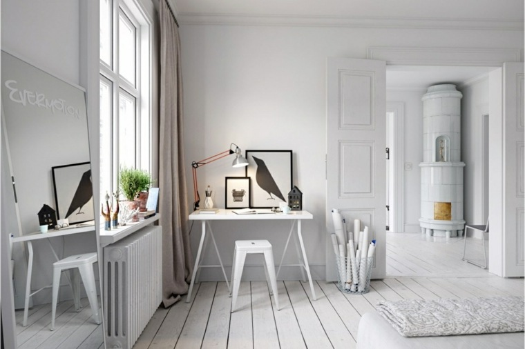 diseno oficina nórdica moderna