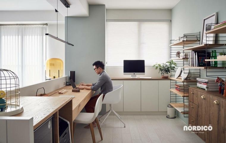 Estilo nordico lo mejor para despachos y oficinas for Despacho diseno interiores