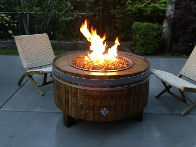 diseño pozo fuego barril