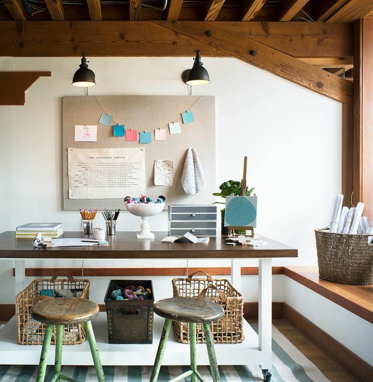 diseño oficina madera natural