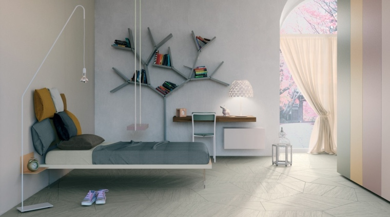 diseno contemporaneo cama flotante ideas