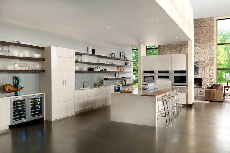 Estanterias cocina estantes abiertos de estilo moderno - Estanteria cocina ...