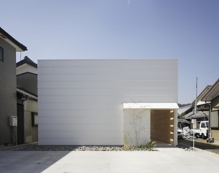 diseno fachada estilo minimalista blanca