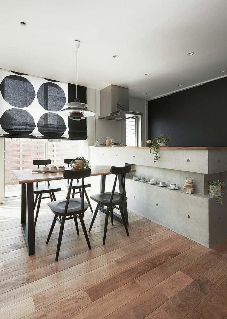 Decoraci n de interiores minimalista ideas de comedores for Diseno cocina comedor