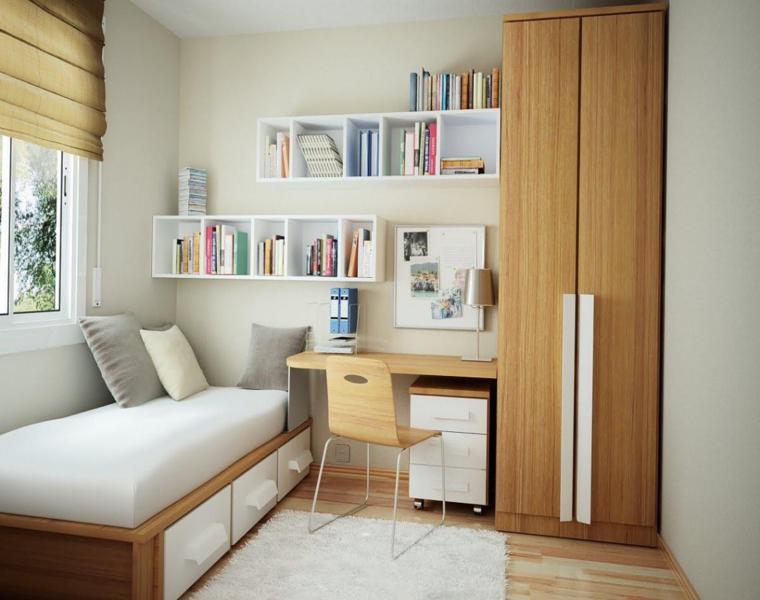 habitación juvenil estilo minimalista