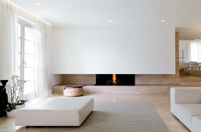 diseno minimalista salon chimenea diseno ideas - Diseo Minimalista