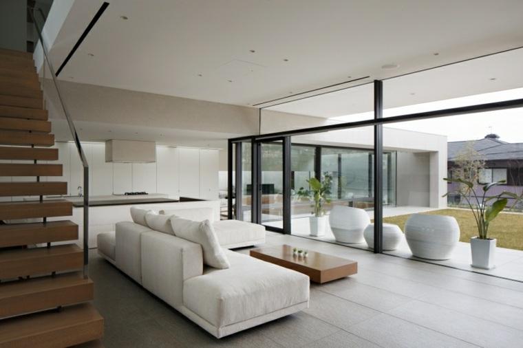 Decoraci n minimalista fotos de salones modernos for Cocina y salon abierto