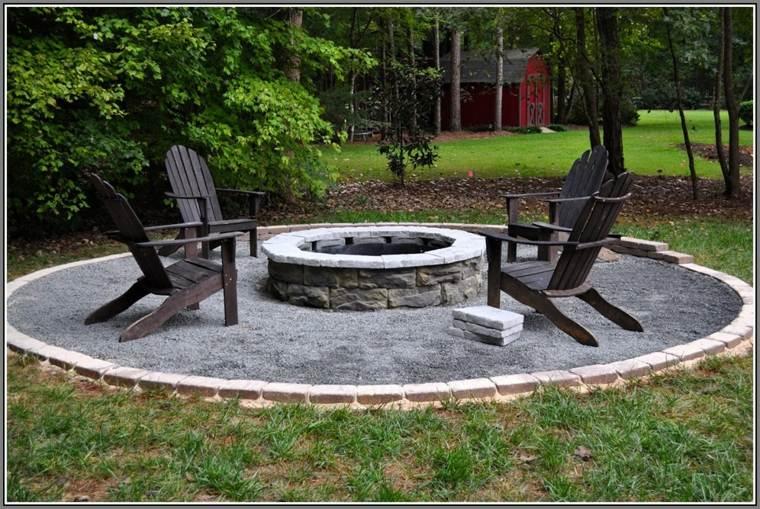diseños pozos fuego jardín