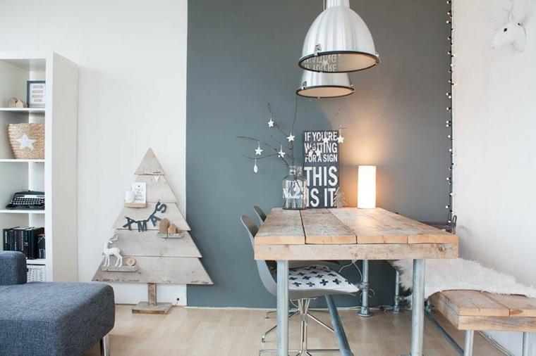 diseno decoracion salon comedor navidad nordico