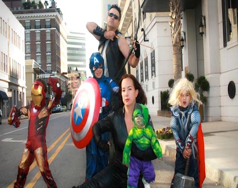 disfraces familia super héroes