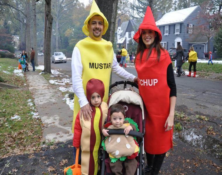 disfraces originales familia salsas ketchup