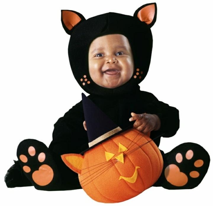disfraces para bebes gatos calabazas frutas
