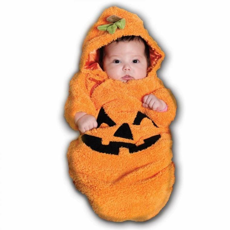 disfraces para bebes halloween nina bebe calabaza ideas