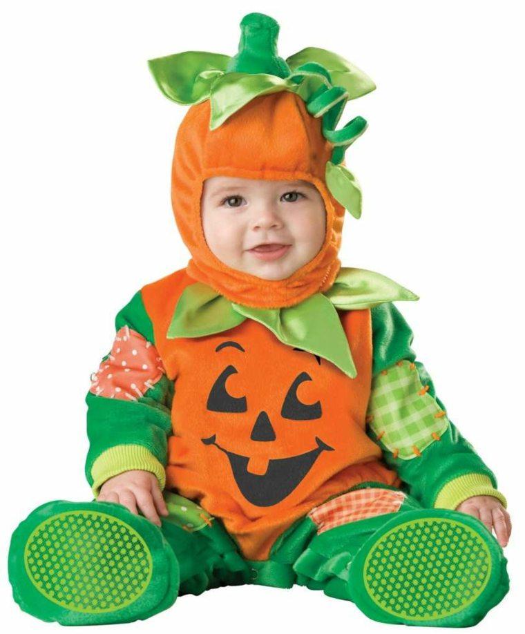 disfraces para bebes halloween nina calabaza ideas