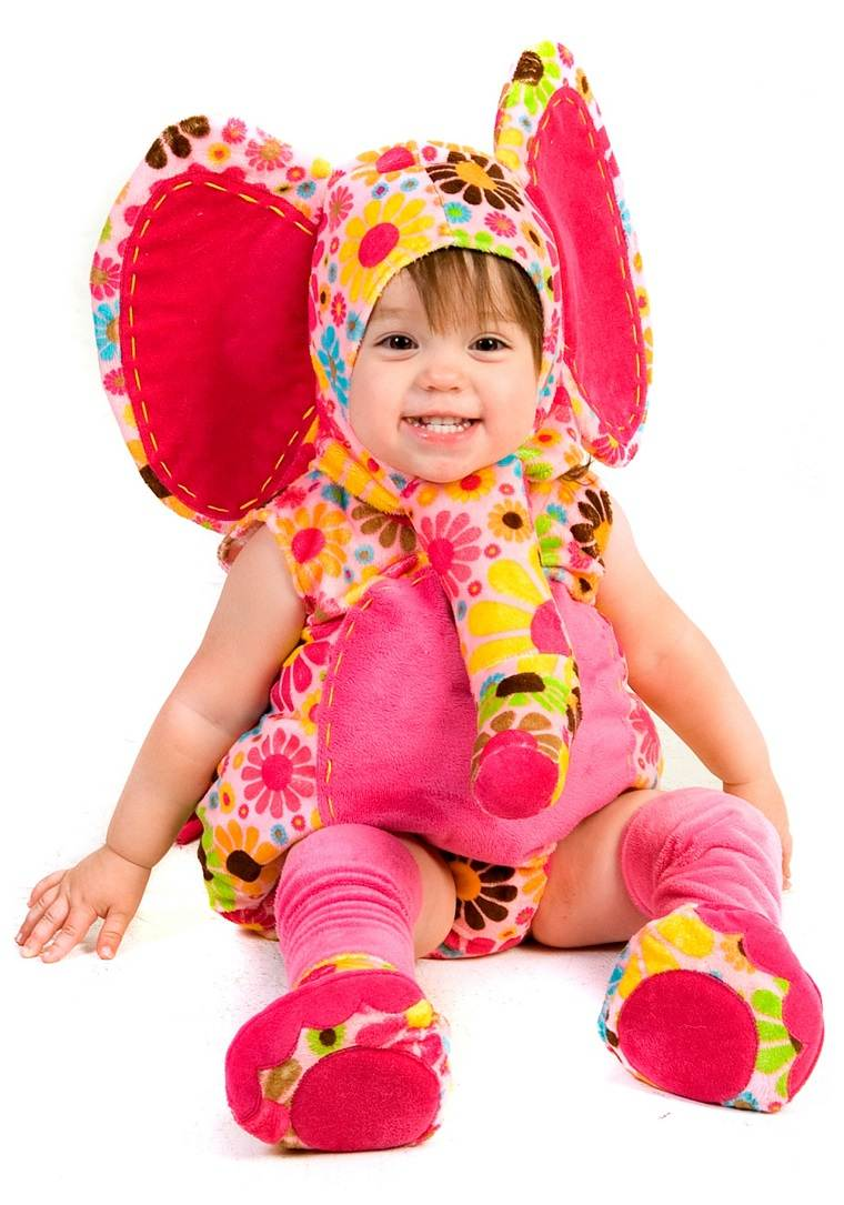 disfraces para bebes halloween nina colorido elefante ideas