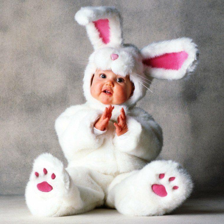 disfraces para bebes halloween nina conejo peluche ideas