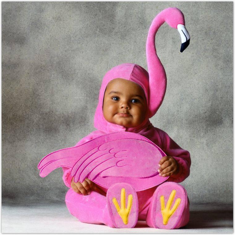 disfraces para bebes halloween nina flamingo rosa ideas