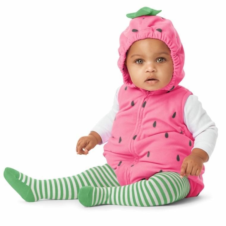 disfraces para bebes halloween nina fresa rosa ideas