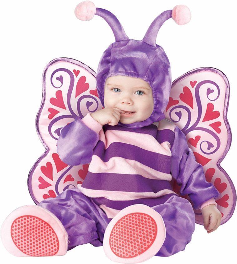 disfraces bebes halloween nina mariposa violeta ideas