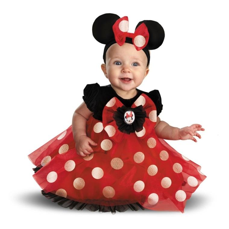 disfraces para bebes halloween nina mini mause blanco rojo negro ideas