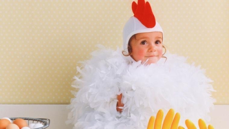 disfraces bebes halloween nina pollo blanco ideas