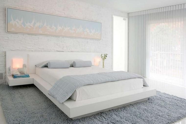 dormitorio principal minimalista cuadro pared ideas