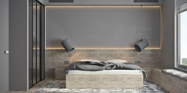 dormitorio principal minimalista diseno madera ideas