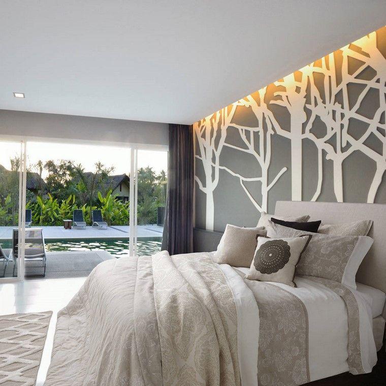 dormitorio principal minimalista diseno pared acento ideas
