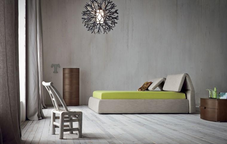 dormitorio principal minimalista diseno paredes hormigon ideas