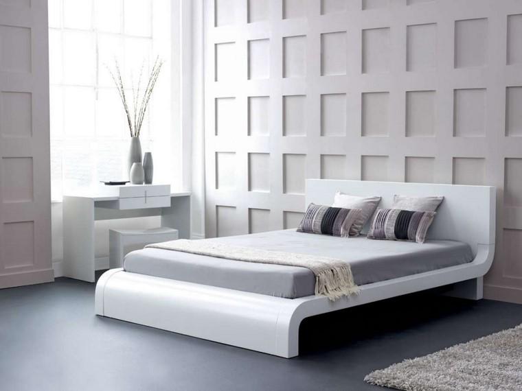 dormitorio principal minimalista diseno todo blanco ideas