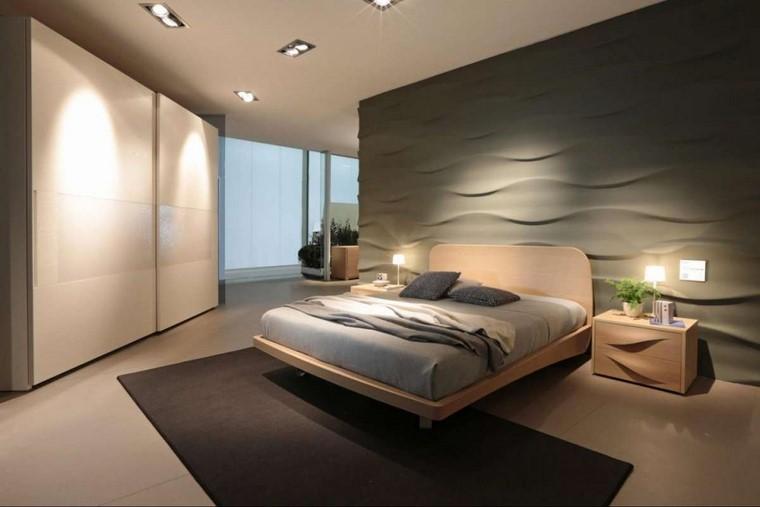 dormitorio principal minimalista pared 3d ideas