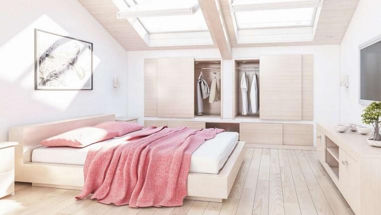 dormitorio principal minimalista ventanas techo ideas