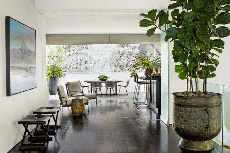 decoración plantas de interior grandes