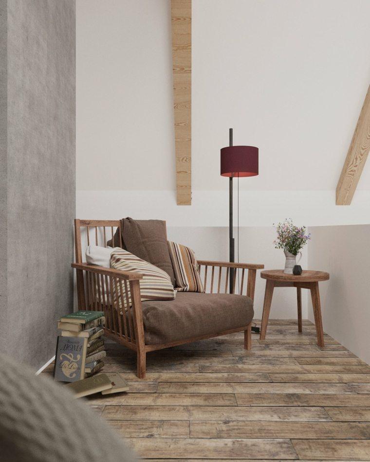 el rincon lectura perfecto sillon madera ideas