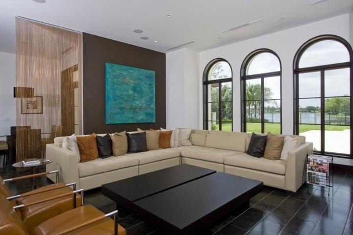 elegantes cuero sillones muebles metales