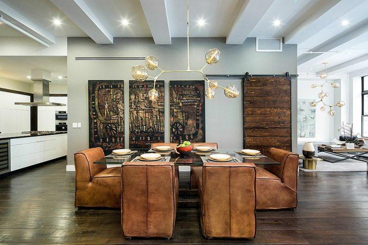 elegantes muebles cuero contemporanea sillones