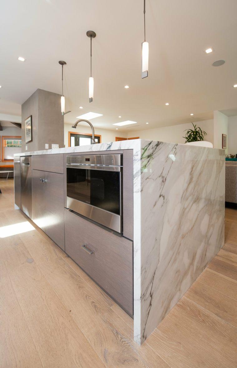 Encimeras para cocina con ca da de agua for Encimeras de marmol